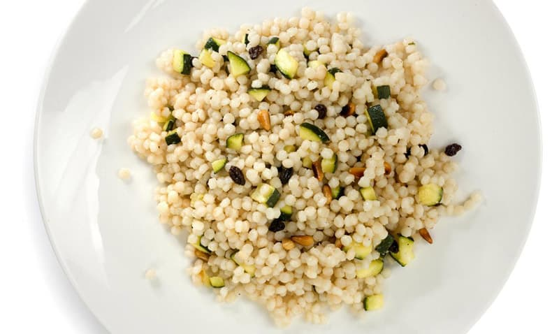Campfire Couscous with Zucchini and Pine Nuts