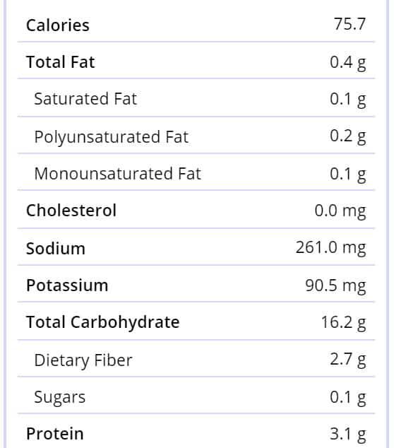 Nutrition-hardtack