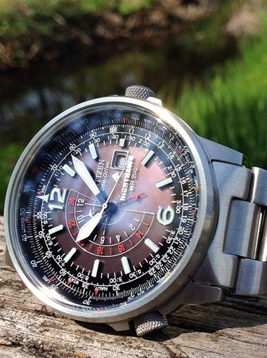 Citizen Nighthawk Stainless Steel Eco-Drive Watch