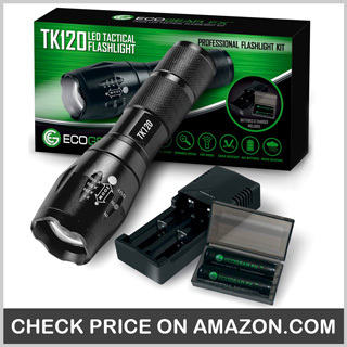 EcoGear FX Tactical Flashlight Kit -Best Police Flashlight