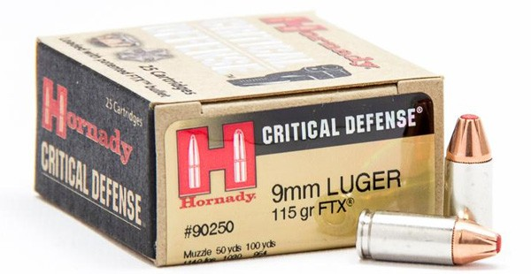 Hornady Critical Defense 115 Grain FTX